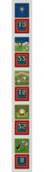 MH1289C Nativity Advent Calendar, strip C of 5pcs Mesh Susan Roberts Needlepoint