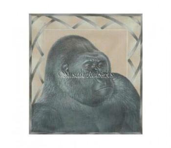 "TTAP354 Gorilla #18 Mesh 13¼"" x 14"" Susan Roberts Needlepoint"