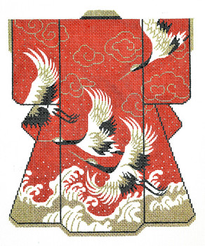 d9477d33a SPM120 Lee's Needle Arts Wedding Kimono Hand-Painted Canvas 8in x 10in, 16m