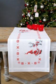PNV150617 Vervaco Kit Christmas Elves Table Runner