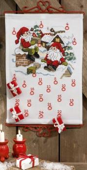 345640 Permin Elfs on Roof Advent Calendar