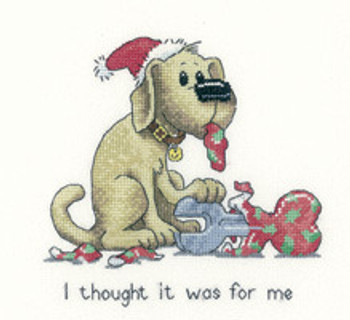 """HCK1108A Heritage Crafts Kit Oh Dear - It's a Dog's Life by Peter Underhill 4.5"""" x 5.25""""; Aida; 14ct"""