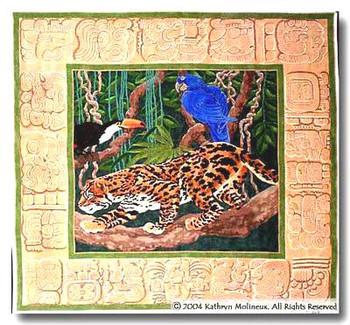 M-268 Machu Pichu Rug 48 x 44.5 13 Mesh Shorebird Studio