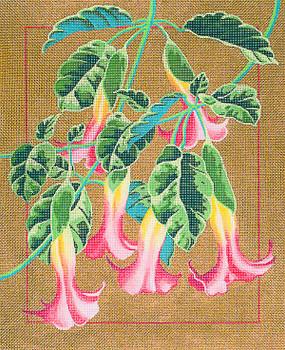 M-510 Trumpet Flowers 13.5 1x 6.5 13 Mesh Shorebird Studio