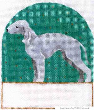 P-348 Bedlington Terrier 5 x 5 18 Mesh Shorebird Studio