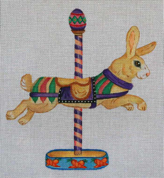 541d779a0684 Needlepoint Canvas Categories - Juvenile Baby - Toys - Carousel ...