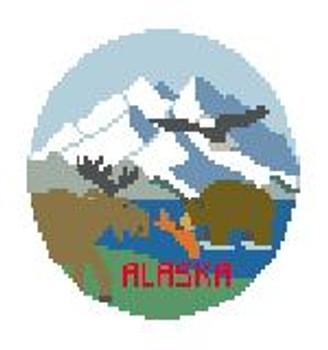 """BT200 Alaska Round Kathy Schenkel Designs  4"""" Diameter"""
