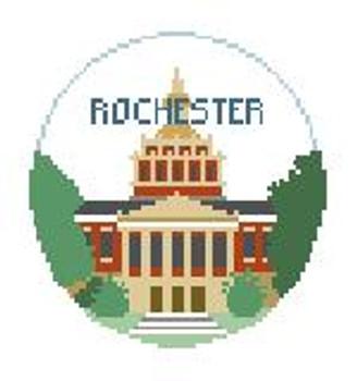 "BT190 U of Rochester, NY Kathy Schenkel Designs  4"" Diameter"