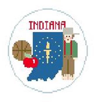 """BT192 Indiana Round Kathy Schenkel Designs  4"""" Diameter"""