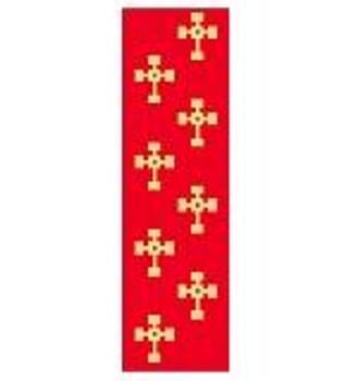 BK118 Crosses Bookmark Kathy Schenkel Designs 1.5 x 4.25