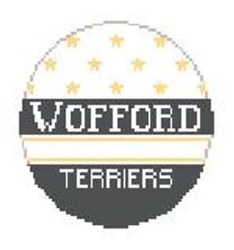 """BT329 Wofford Terriers  Kathy Schenkel Designs 4"""" Diameter"""