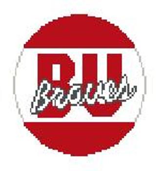 """BT311 Bradley University Kathy Schenkel Designs 4"""" Diameter"""