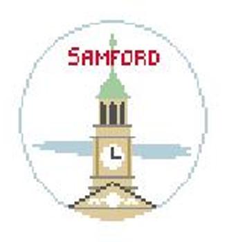 """BT291 Samford University Kathy Schenkel Designs  4"""" Diameter"""