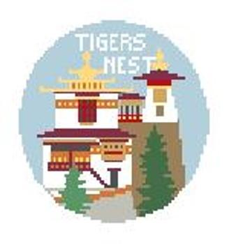 "BT296 Bhutan Tigers Nest Kathy Schenkel Designs  4"" Diameter"