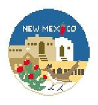 """BT257 New Mexico Round Kathy Schenkel Designs  4"""" Diameter"""