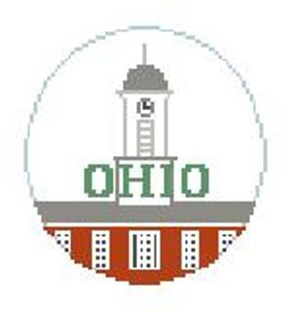"BT250 Ohio University Kathy Schenkel Designs  4"" Diameter"