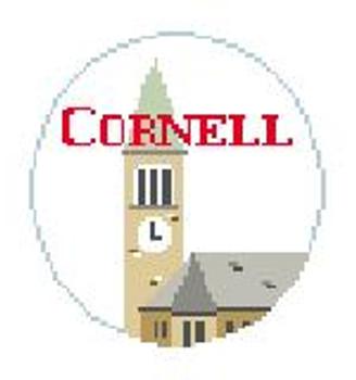 """BT234 Cornell U, Clock Tower Kathy Schenkel Designs  4"""" Diameter"""