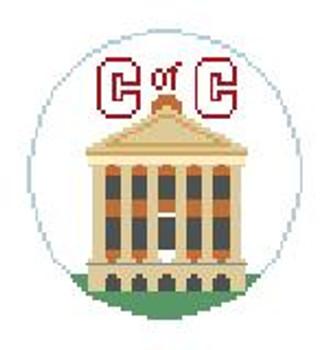 """BT231 College of Charleston Kathy Schenkel Designs  4"""" Diameter"""