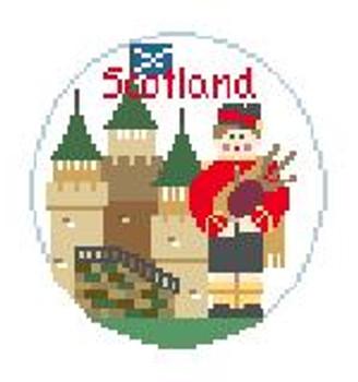 """BT615 Scotland Kathy Schenkel Designs  4"""" Diameter"""