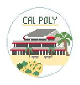 """BT617 Cal Poly, San Luis Obispo Kathy Schenkel Designs  4"""" Diameter"""