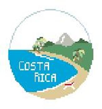 """BT620 Costa Rica Round Kathy Schenkel Designs  4"""" Diameter"""