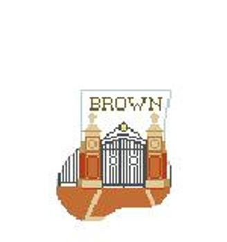CM405V Brown U Van Wickle Gates Kathy Schenkel Designs 4 x 4 Mini Sock