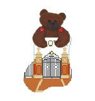 CM474X Brown U w Brown Bear Kathy Schenkel Designs 4 x 4 Mini Sock