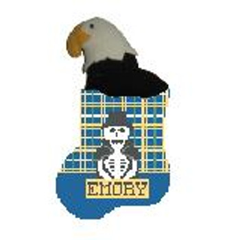 CM474W Emory w Eagle Kathy Schenkel Designs 4 x 4 Mini Sock