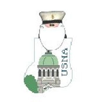 CM474K US Naval Academy w/Admiral Kathy Schenkel Designs  4 x 4 Mini Sock