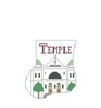CM407F Temple U Baptist Temple Kathy Schenkel Designs 4 x 4 Mini Sock