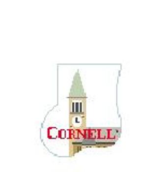 CM407L Cornell U Clock Tower Kathy Schenkel Designs 4 x 4 Mini Sock