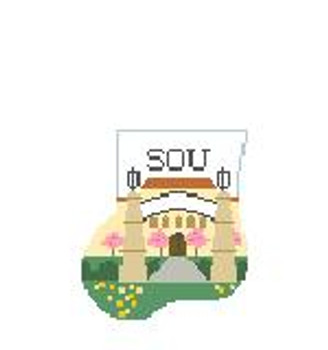 CM407P So Oregon U Entrance Kathy Schenkel Designs 4 x 4 Mini Sock