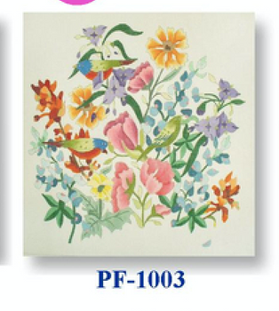 "PF-1003 Painted Bunting 18 Mesh 12"" Flowers CBK Bettieray Designs"