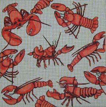 222 Lobsters 14 x 14 13 Mesh Danji Designs