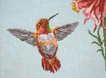 #1620 Rufous Hummingbird 18 Mesh  Needle Crossings