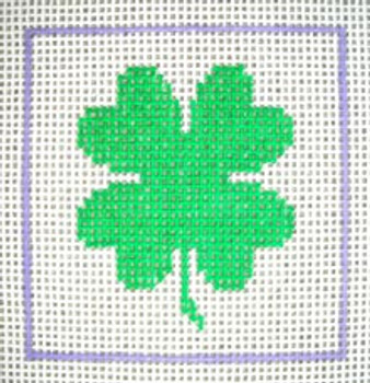 A14 Shamrock DeElda Needleworks Beginner Needlepoint kit