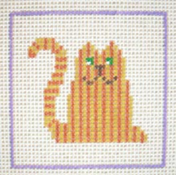 A13 Tabby Cat DeElda Needleworks Beginner Needlepoint kit