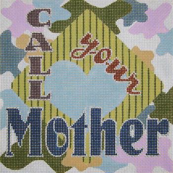 HO-02 Call Your Mother, Blues 8 x 8 13 Mesh Anne of Green Gables™ Devon Nicholson Designs