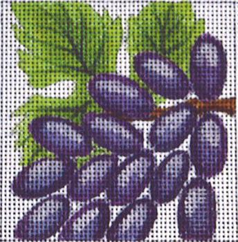 C382 Grapes 4 x 4 13 Mesh Jane Nichols Needlepoint