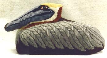 600Pelican Brick *13 Mesh Shown Finished Jane Nichols Needlepoint