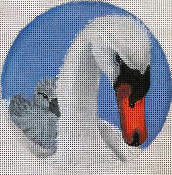 "FF57B Swans Round 5"" Nenah Stone Designs 18 Mesh"