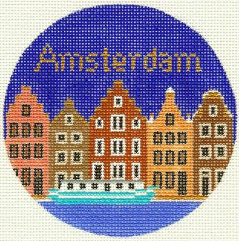 462 Amsterdam Ornament 4.25 RD. 18 Mesh Silver Needle Designs