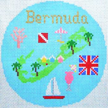 778 Bermuda Ornament 4.25 round18 Mesh Silver Needle Designs