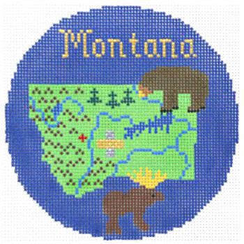 805 Montana Ornament 4.25 round18 Mesh Silver Needle Designs