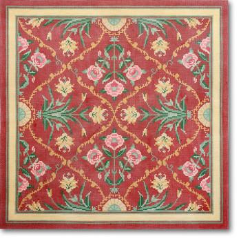 LC-5167 #1 Kashmir Red Background 18 Mesh 12.25 Square Lois Caron CBK Designs