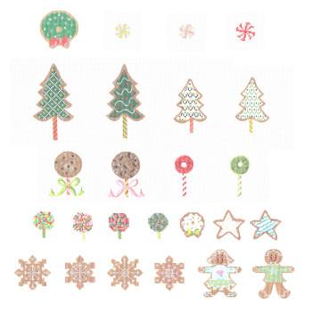 KCA8001Set Set of 25 Advent Ornaments 18 Mesh KELLY CLARK STUDIO, LLC