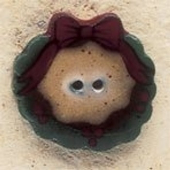 "43189 Debbi Mumm Button Country Wreath; 7/8"" x 7/8""     2 Pieces"
