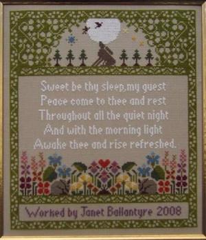 Guest Room Sampler (The Moon Sampler) Stitch Count: 147 x 169 Moira Blackburn Samplers MBGRS