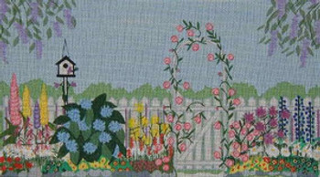 175 Danji Designs The Garden Gate 13 ½ x 7 18 Mesh  With Stitch Guide