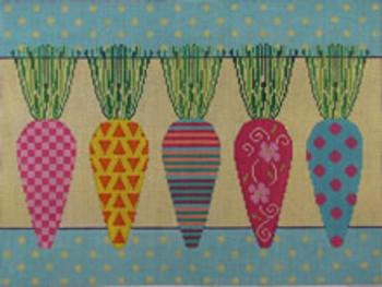 613 NeedleDeeva 17 x 12.75 13 Mesh Whimsical Carrots